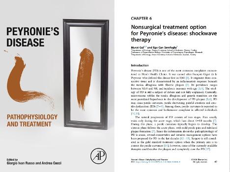 """""""Peyronie Hastalığında Şok Dalga Tedavisi"""" Adlı Kitap Bölümümüz Yayınlandı"""