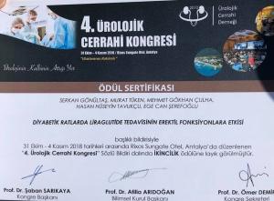 Bir kongre daha başarıyla biter. Ürolojik Cerrahi Derneği yetkililerine nazik davetleri icin teşekkürler.