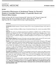 Peyronie Hastalığı Tedavisine İlişkin Makalemiz Yayınlandı